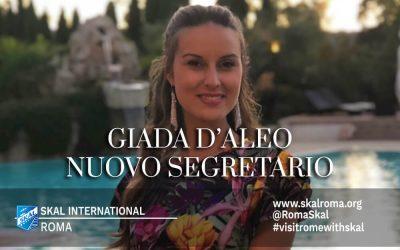 Skål Roma: Giada D'Aleo nuovo Segretario
